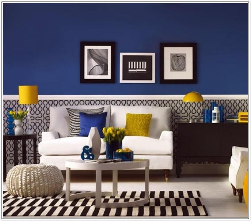 Yellow Royal Blue Living Room Ideas