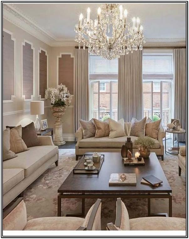 Beige Modern Elegant Living Room Ideas