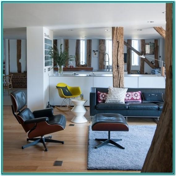 Blue Mid Century Living Room Ideas