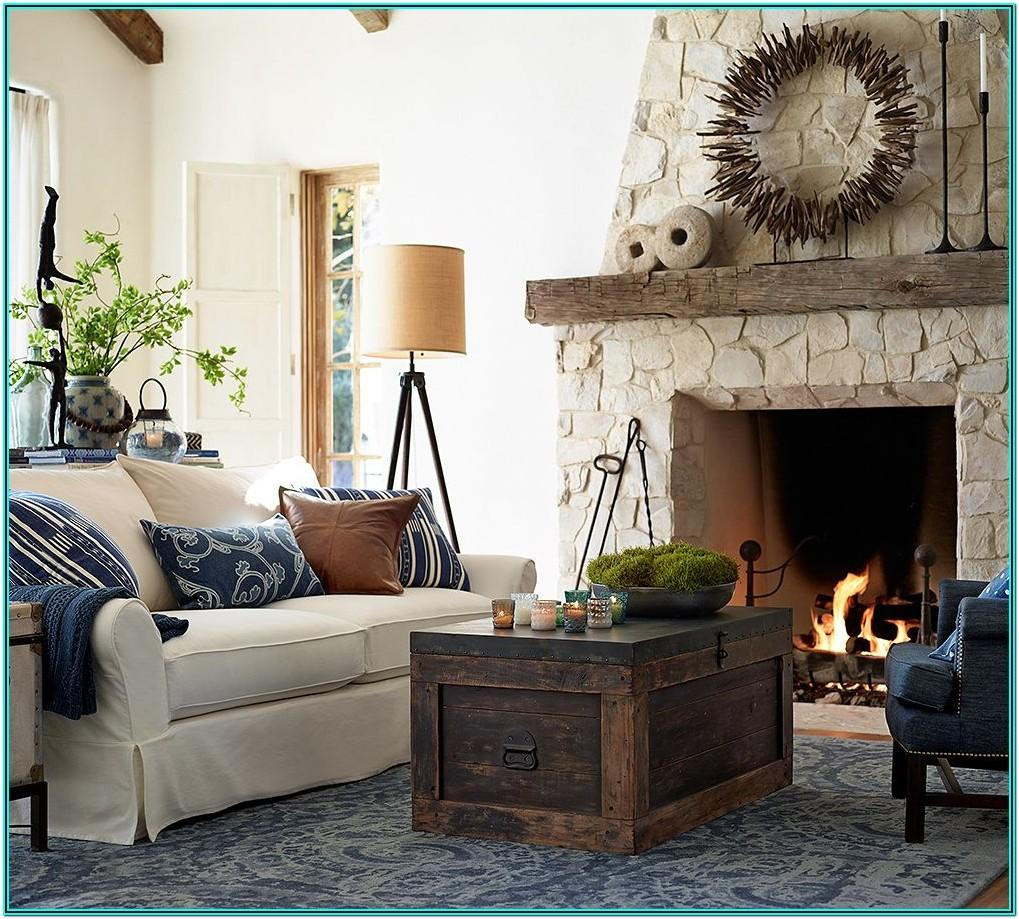 Blue Pottery Barn Living Room Ideas