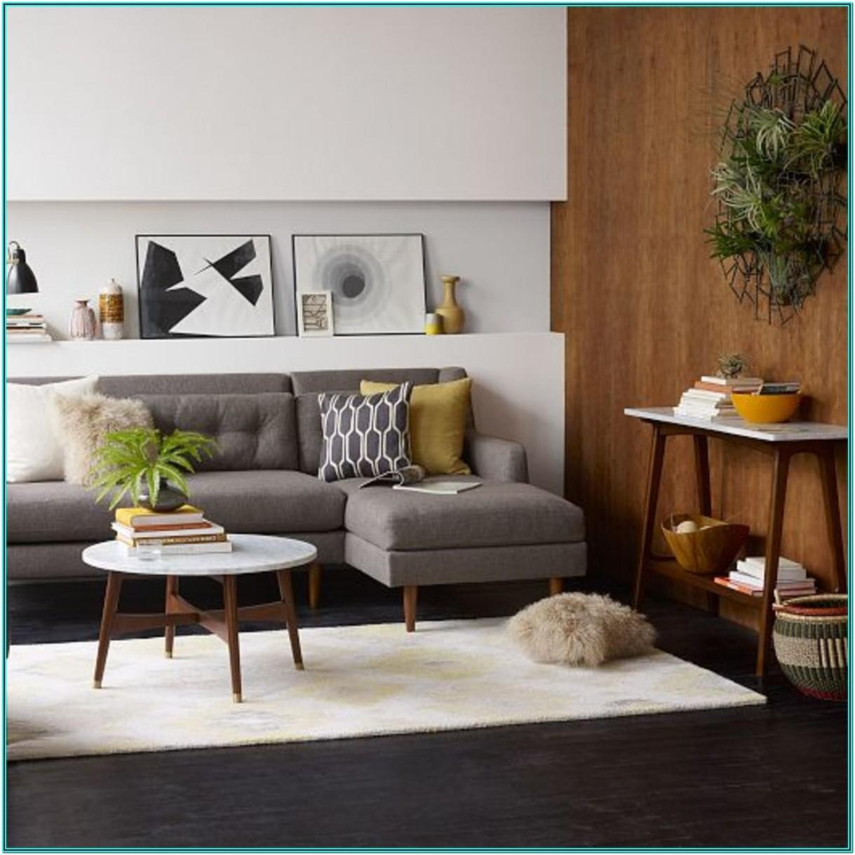 Brown Couch Mid Century Living Room Ideas