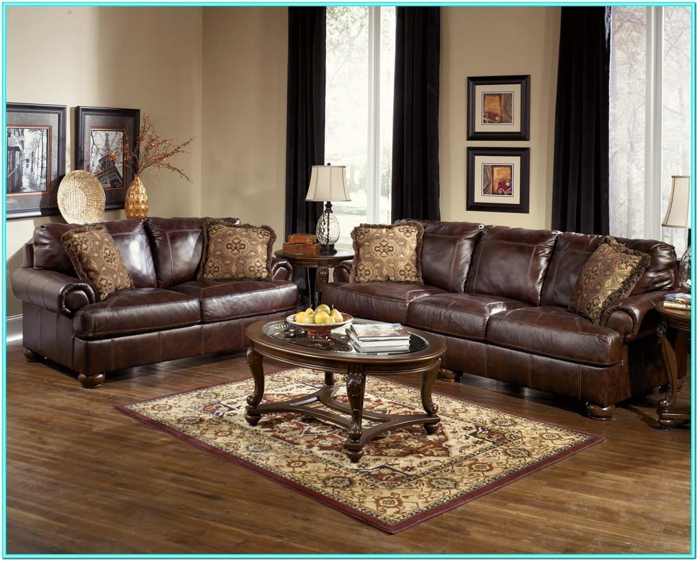 Brown Leather Sofa Living Room Decor