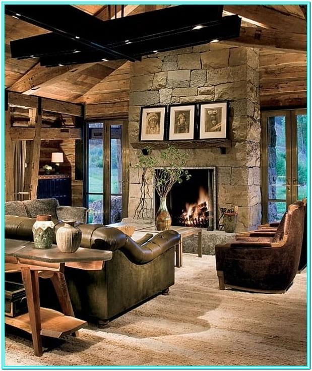 Cabin Living Room Designs