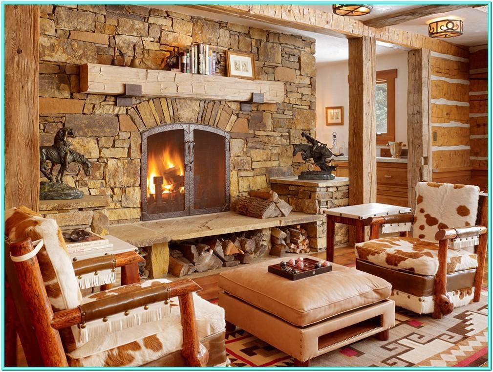 Cabin Style Living Room Decor
