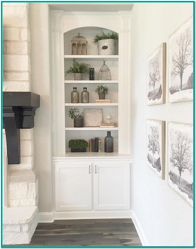 Farmhouse Living Room Shelf Ideas