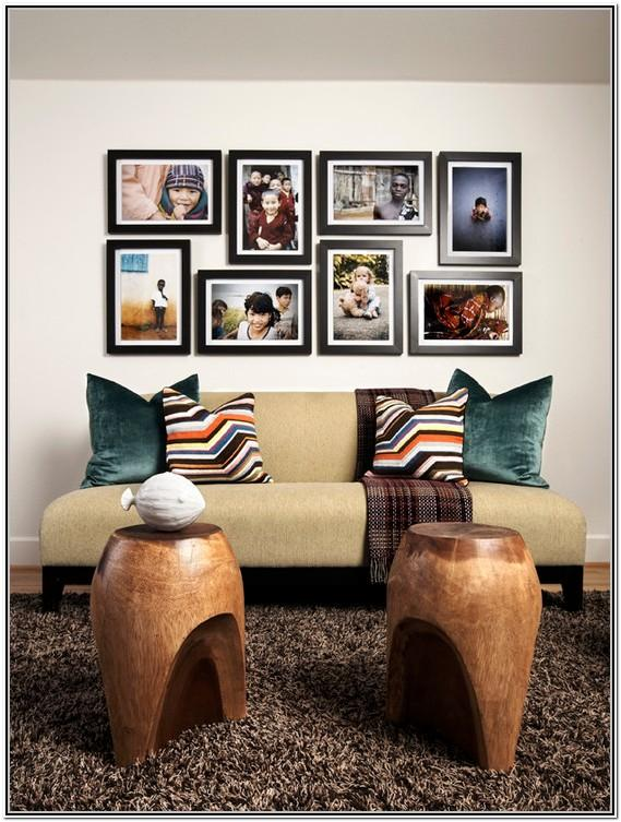 Living Room Family Picture Frame Wall Ideas
