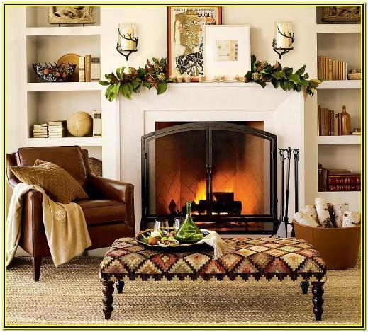 Living Room Fireplace Mantel Decorating Ideas
