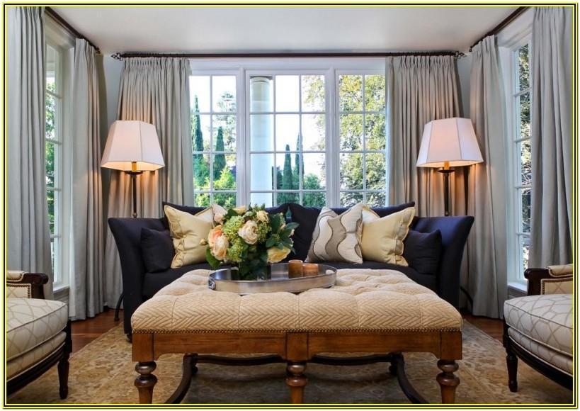 Living Room Large Window Treatment Ideas