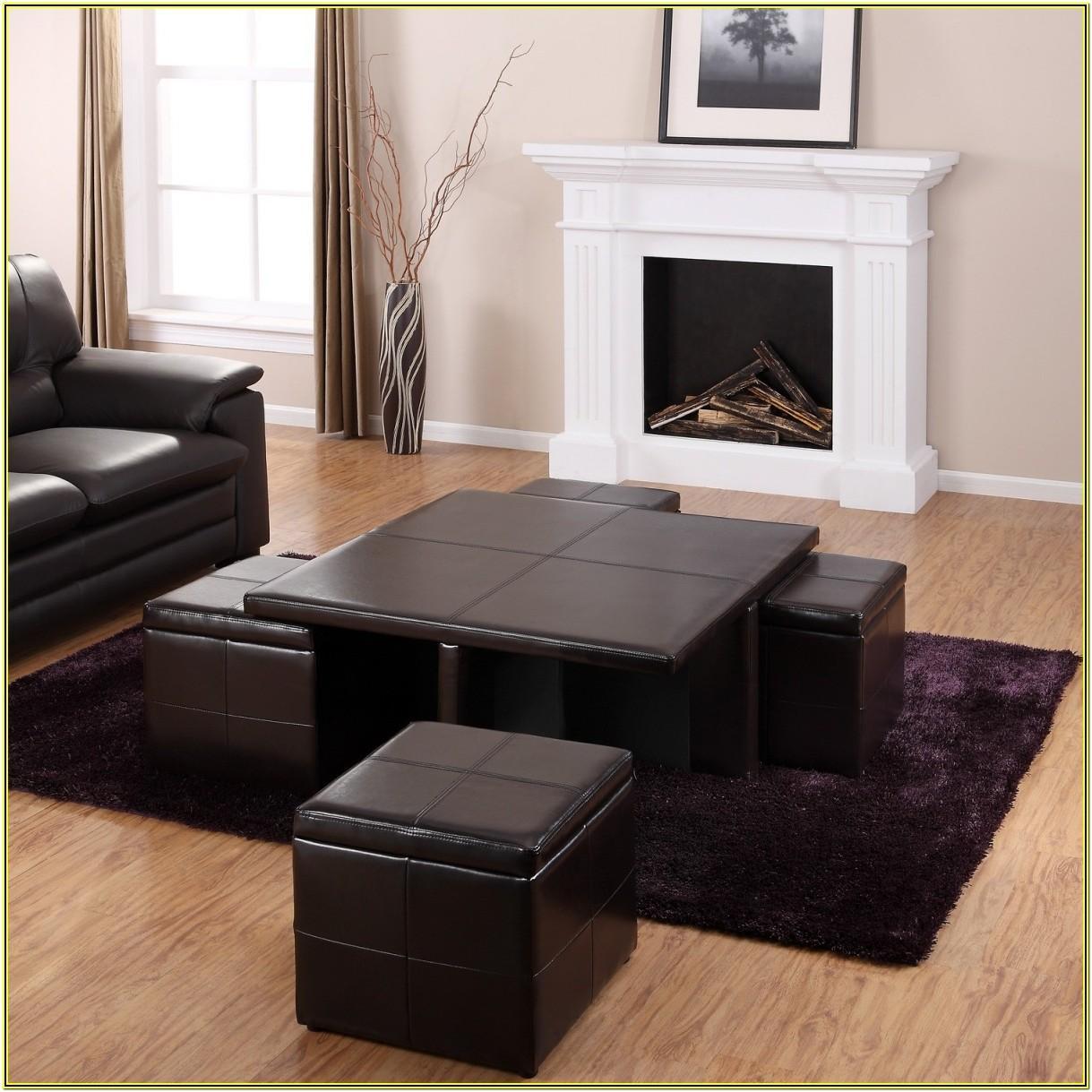 Living Room Leather Ottoman Ideas