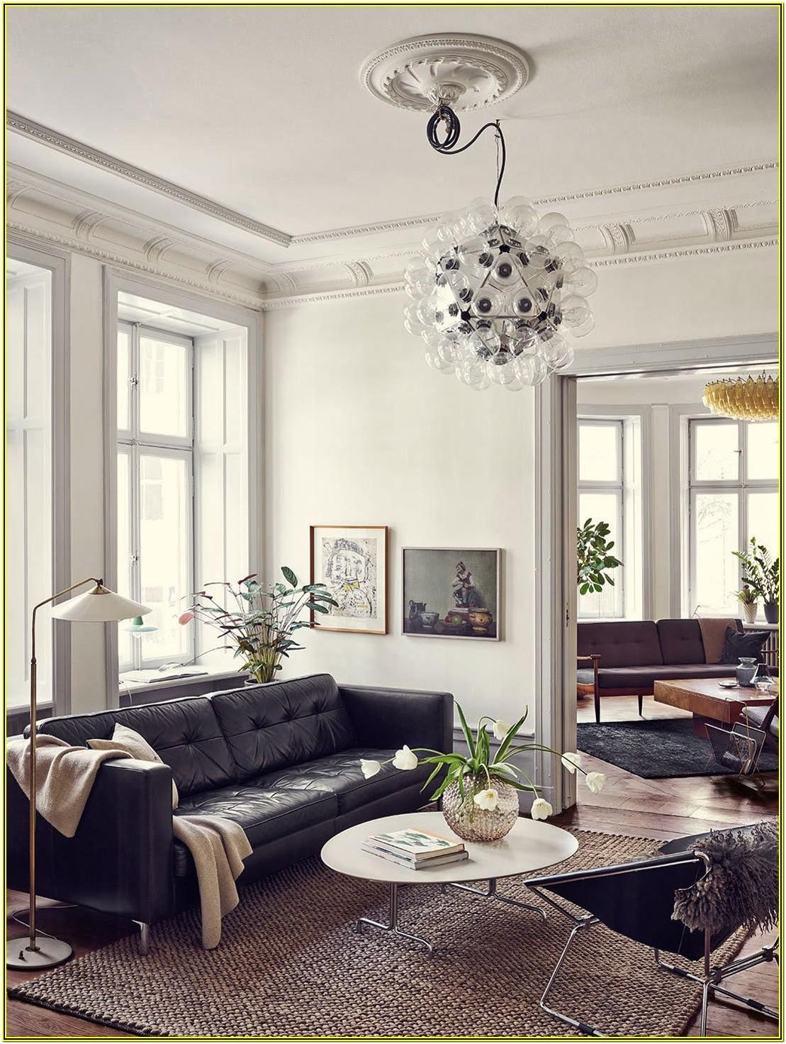 Living Room Leather Sectional Ideas