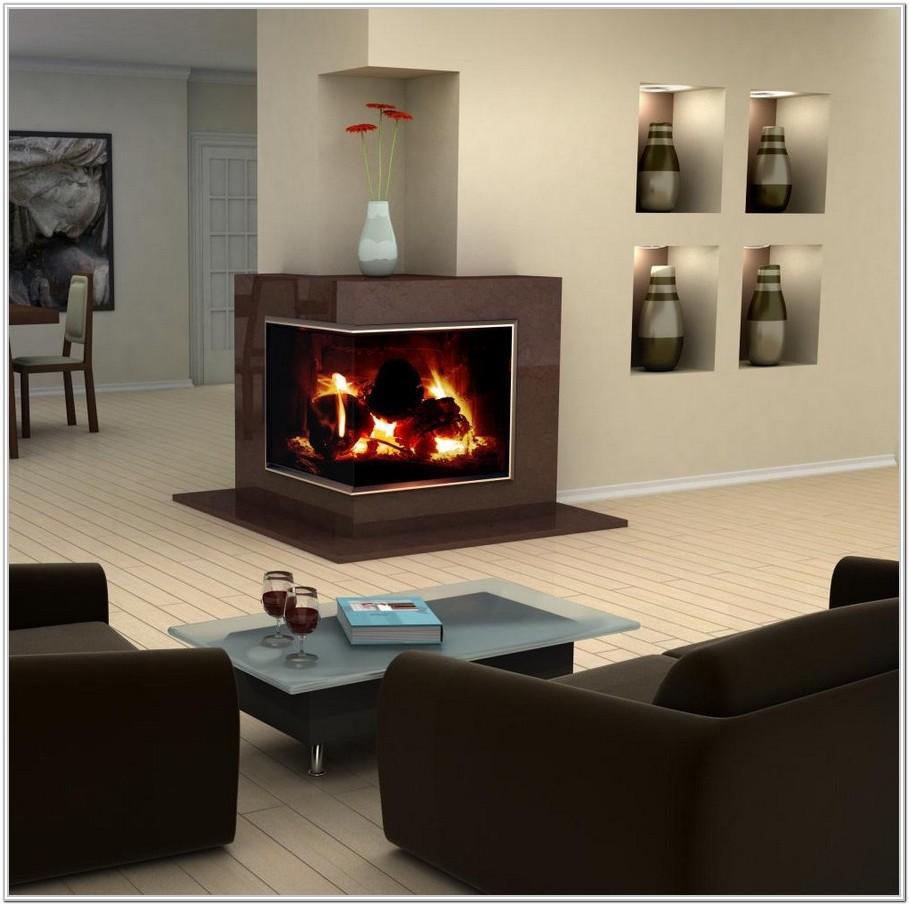 Living Room Modern Corner Fireplace Ideas