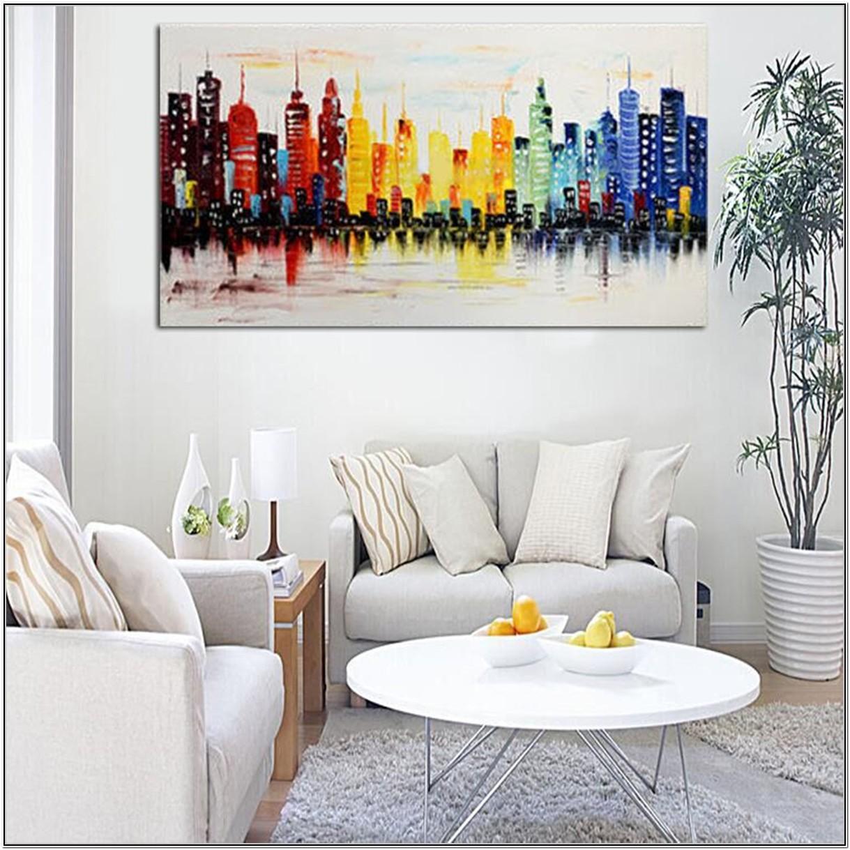 Living Room Modern Wall Art Ideas