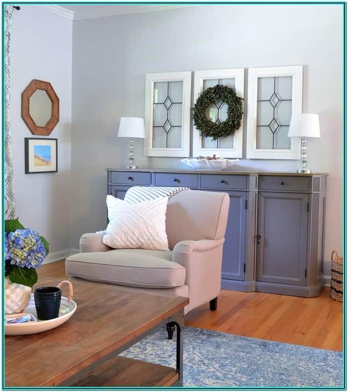 Living Room Setup Ideas Blue White