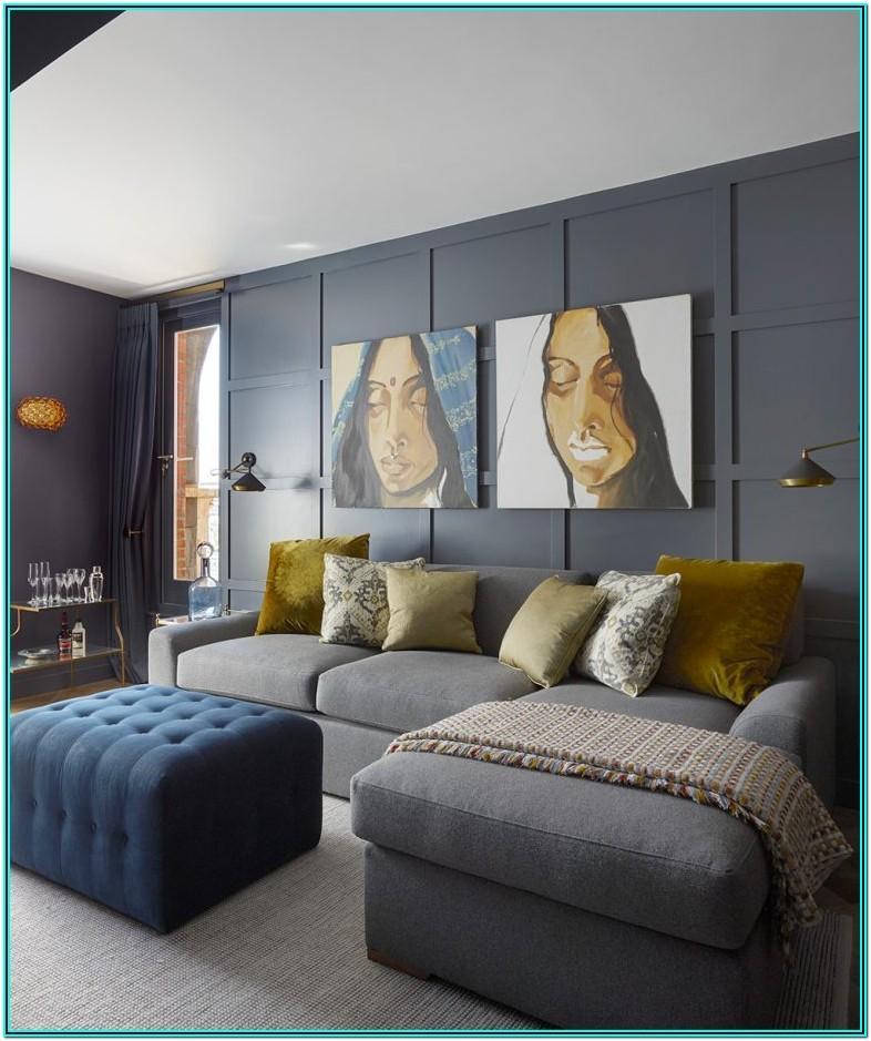 Living Room Setup Ideas With Dark Grey