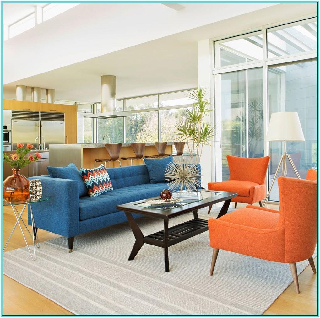Living Room Sofa Blue And Orange Ideas