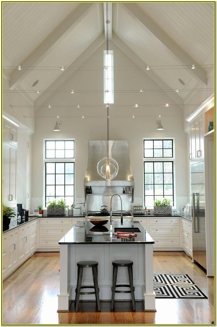 Living Room Vaulted Ceiling Lighting Ideas