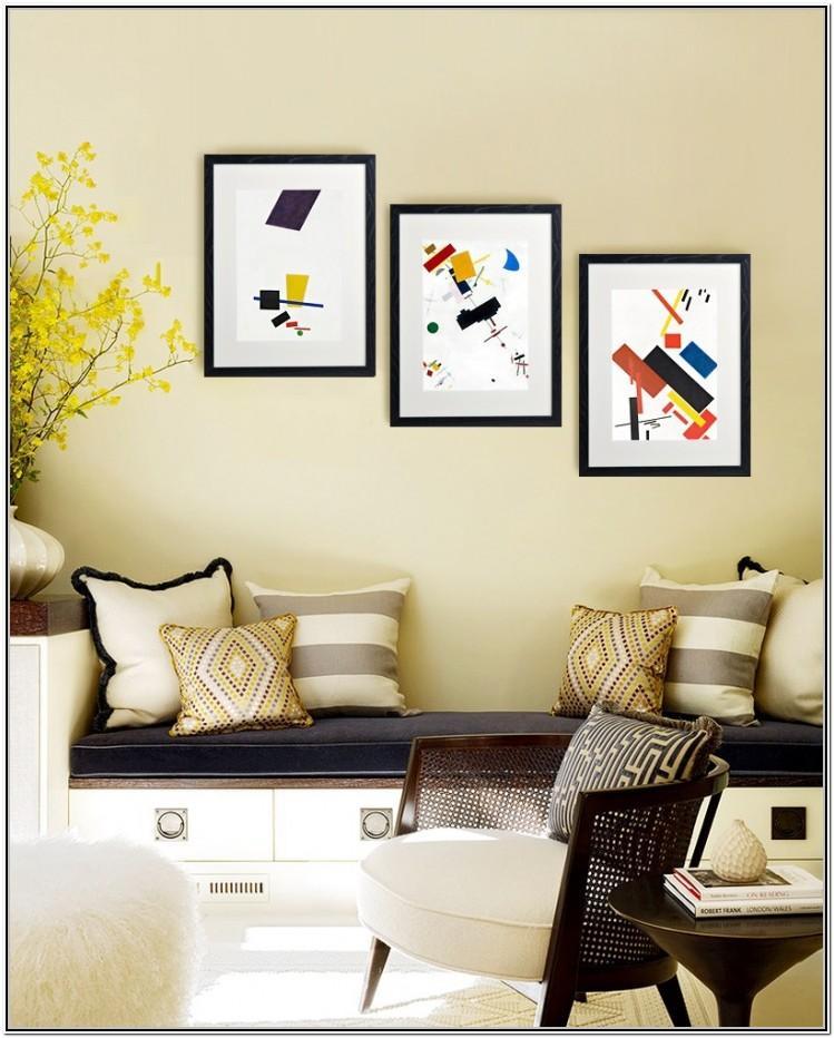 Living Room Wall Photo Frame Arrangement Ideas