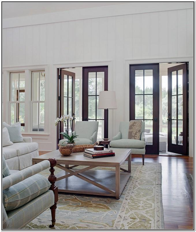 Living Room With French Doors Layout Ideas