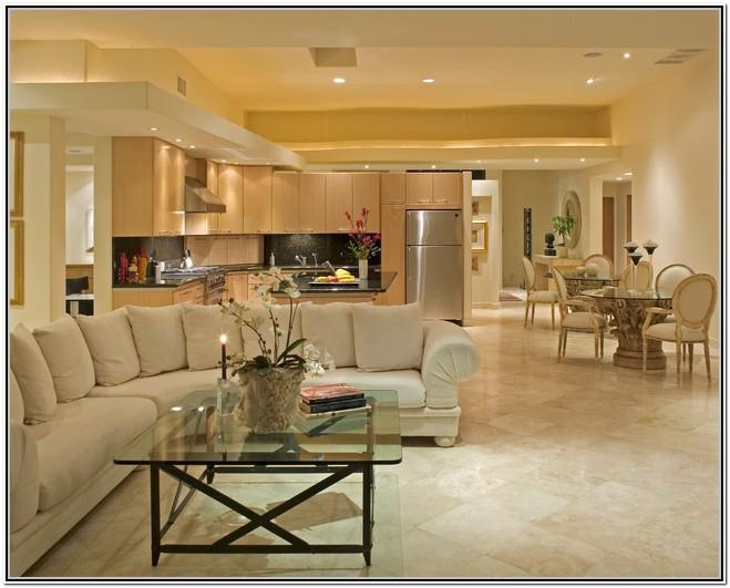 Living Room With Kitchen Design Ideas