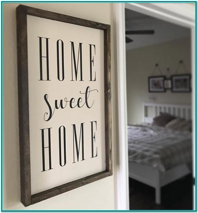 Living Room Wooden Sign Ideas