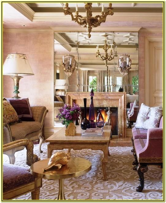 Living Rooms With Mirror Wall Ideas