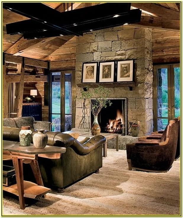 Lodge Style Living Room Ideas