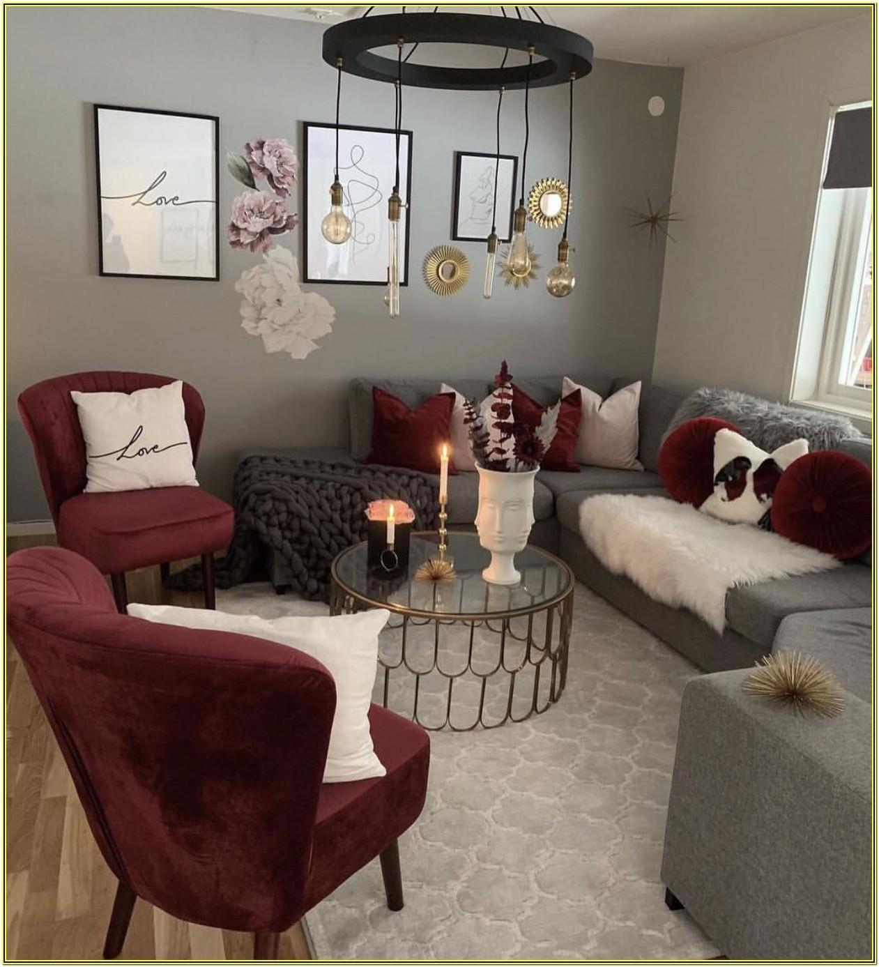 Maroon Burgundy And Grey Living Room Ideas