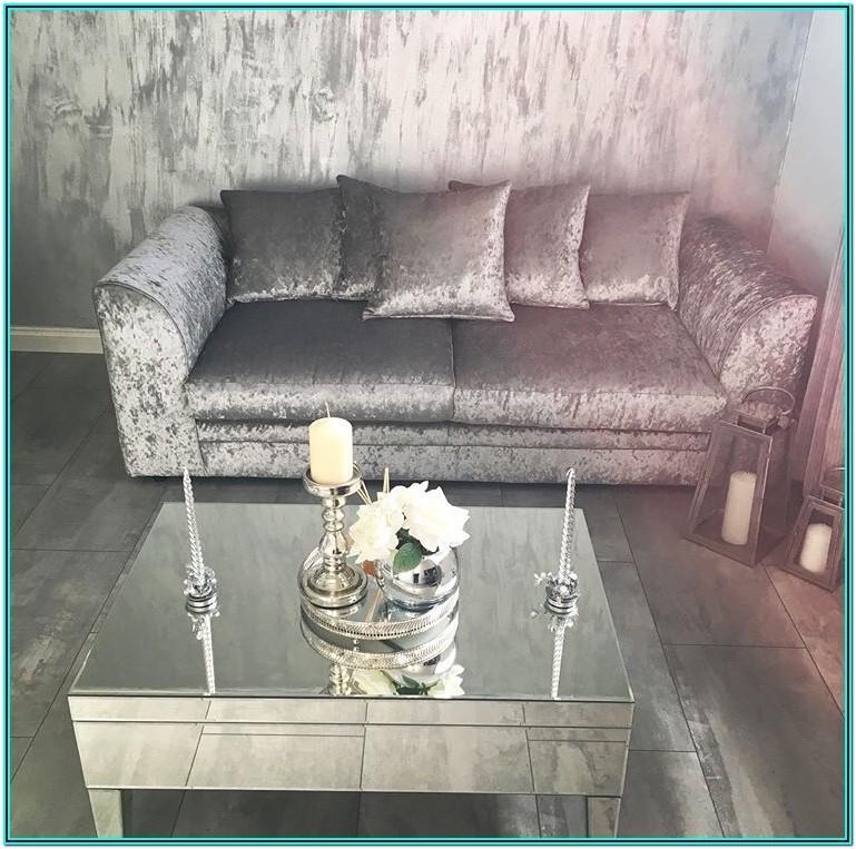Mink Crushed Velvet Living Room Ideas