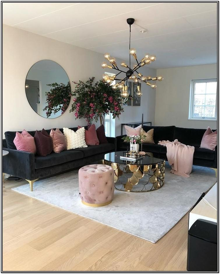 Modern Black And Gold Living Room Ideas