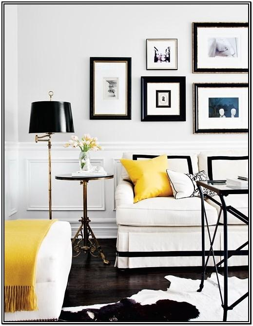 Modern Black And Yellow Living Room Ideas