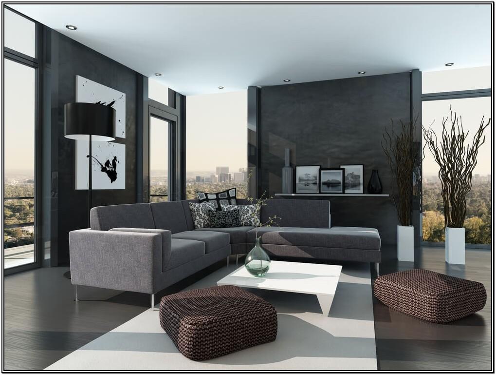 Modern Black Sectional Living Room Ideas
