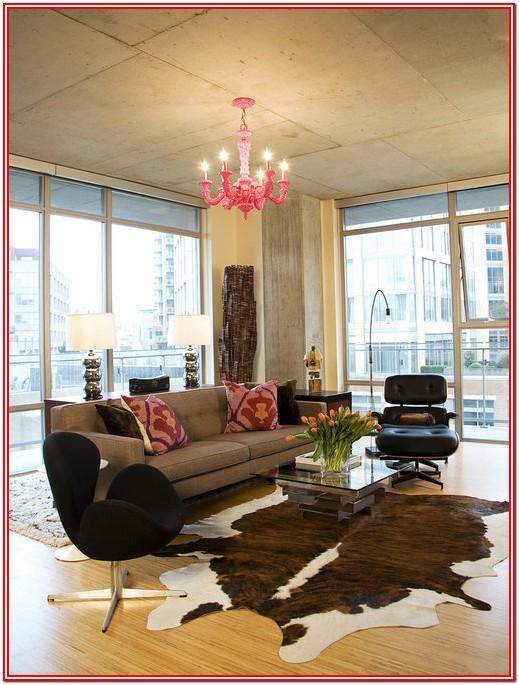 Modern Cowhide Rug Living Room Ideas