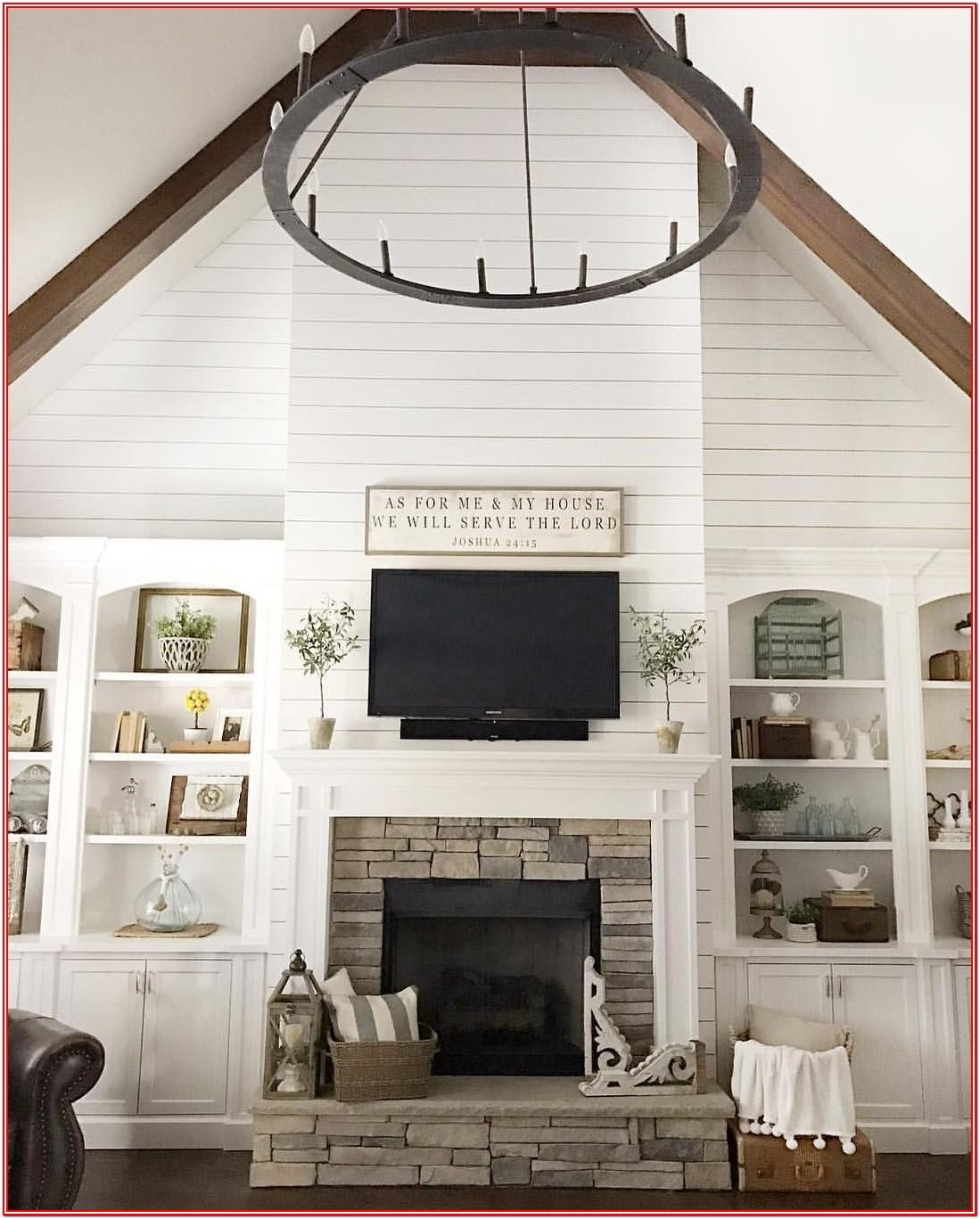Modern Farmhouse Living Room Ideas With Fireplace
