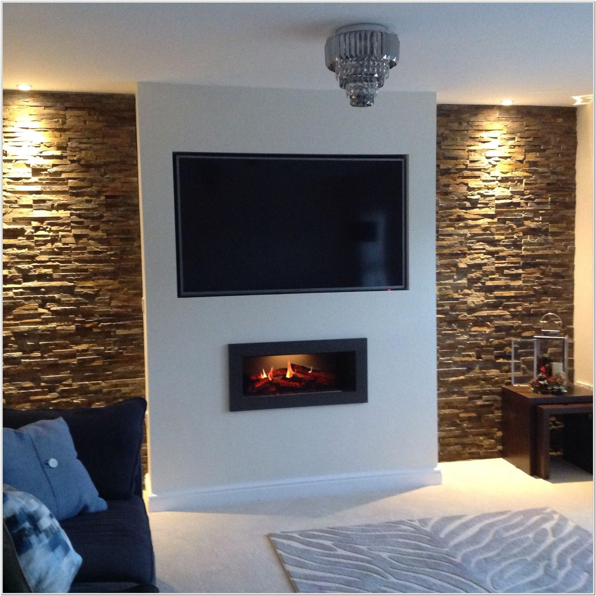 Modern Feature Wall Ideas Living Room With Fireplace