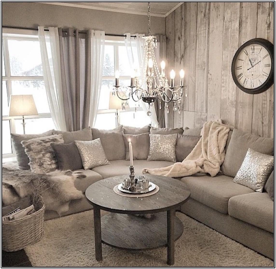 Modern Grey Shabby Chic Living Room Ideas