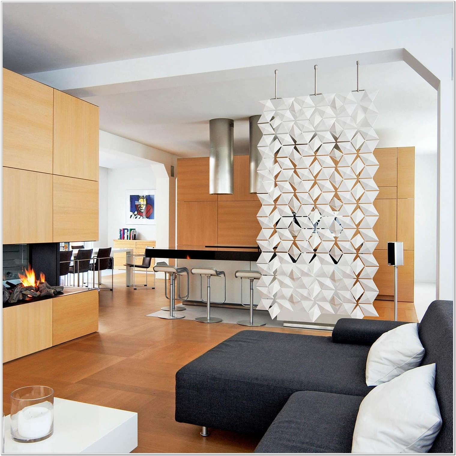 Modern Kitchen And Living Room Partition Ideas