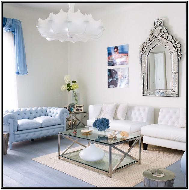 Modern Light Blue Living Room Ideas
