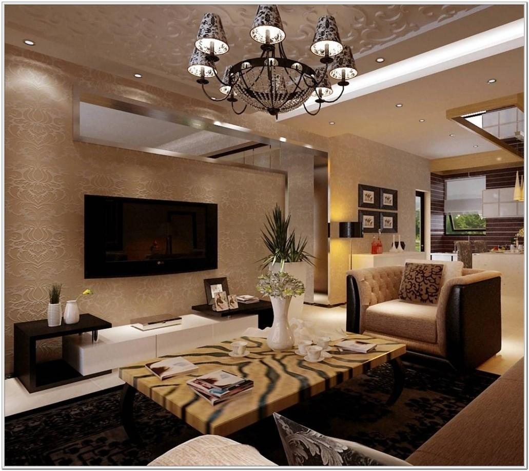 Modern Living Room Half Wall Modern Idea