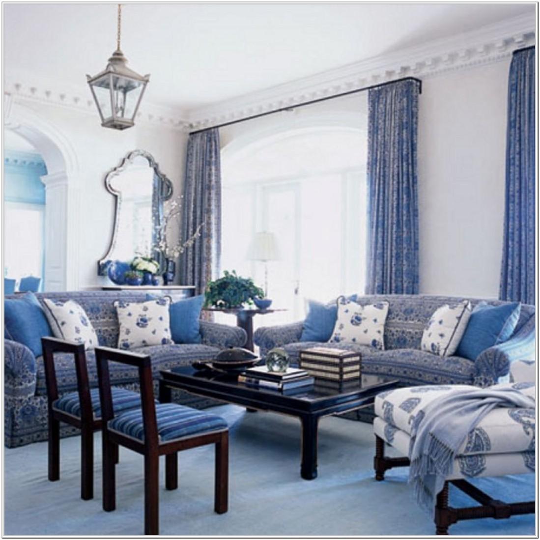 Modern Living Room Idea Blue