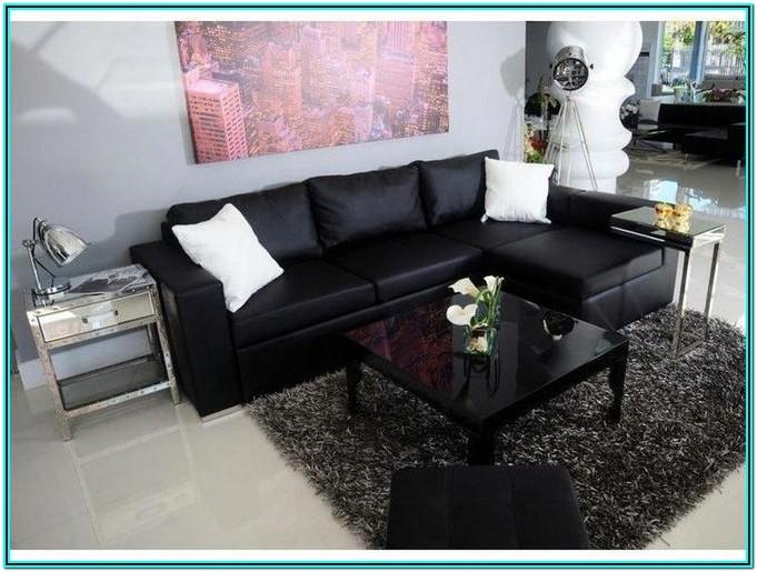 Modern Living Room Ideas With Black Leather Sofa