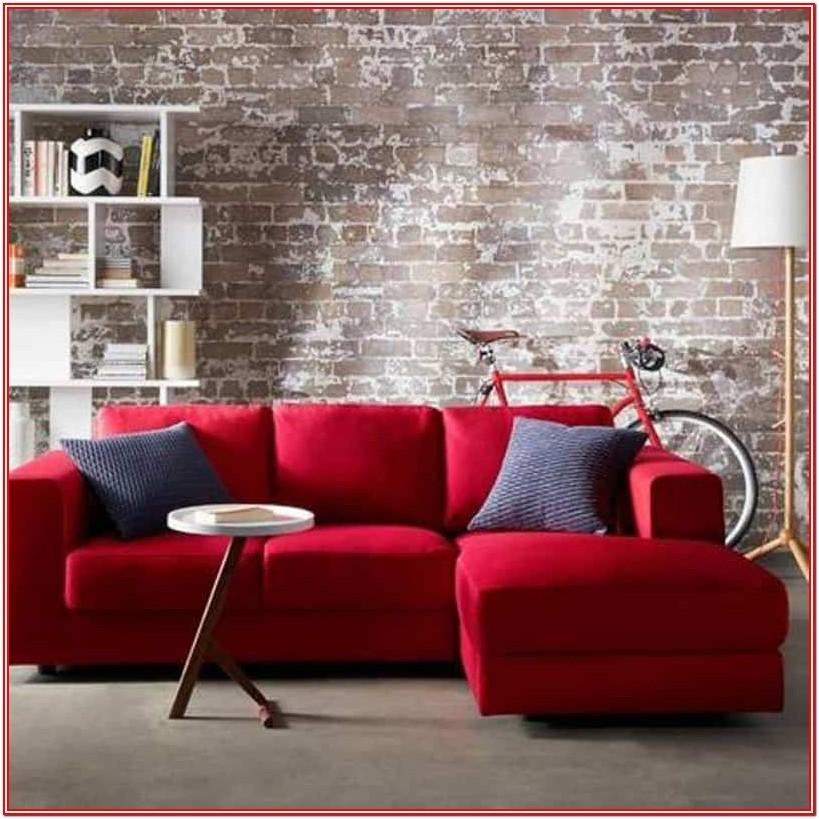 Modern Living Room Ideas With Red Sofa