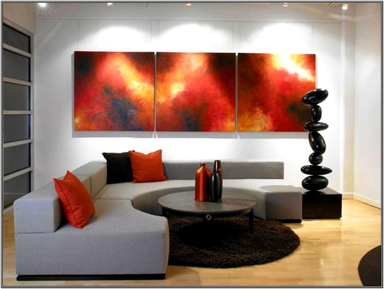 Modern Red Black And Grey Living Room Ideas