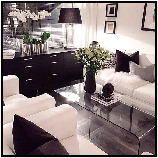Modern Red Black And White Living Room Decorating Ideas