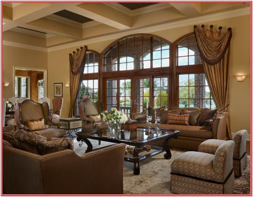 Modern Tuscan Mediterranean Themed Living Room Ideas