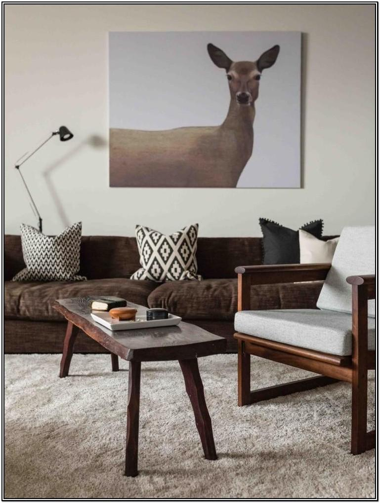Modern White And Brown Living Room Ideas