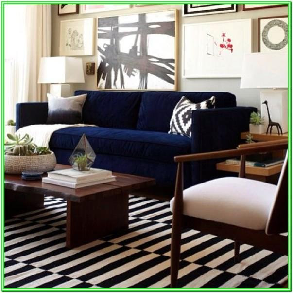 Navy Blue Couch Living Room Ideas