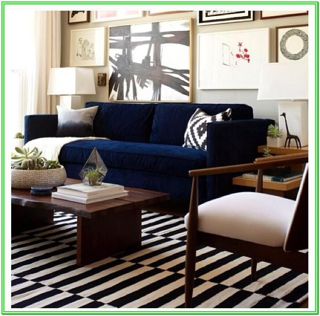Navy Blue Sectional Living Room Ideas
