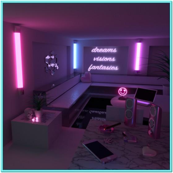 Neon Lights Living Room Ideas