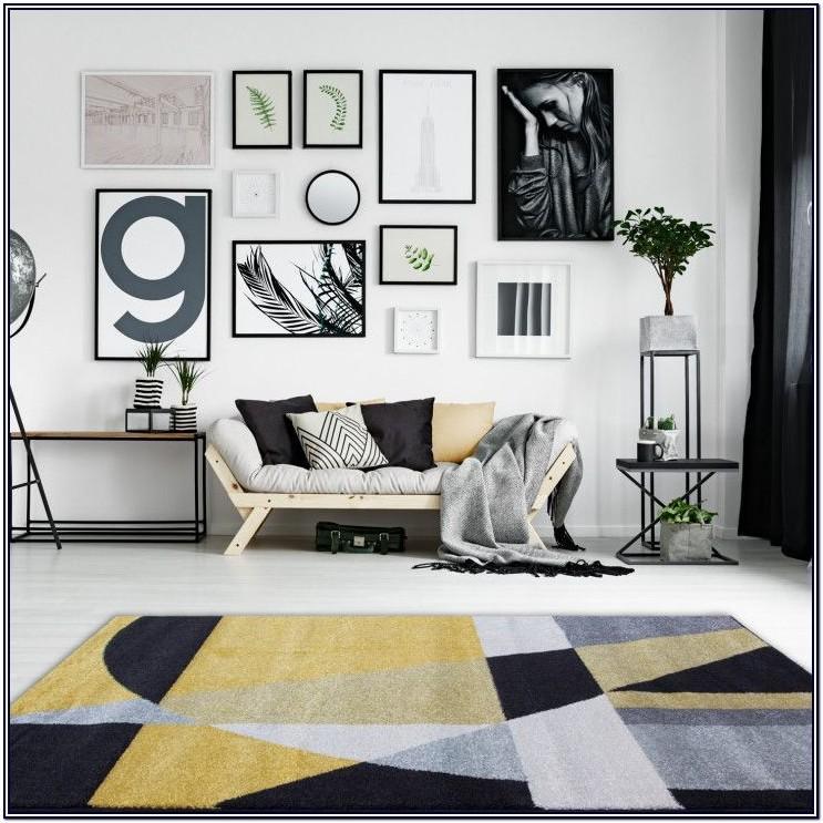 Ochre And Black Living Room Ideas