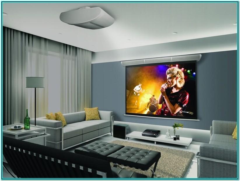 Projector Screen Living Room Ideas